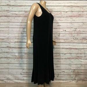 Chico's Dresses - Chico's Travelers Black Tank Jumper Midi Dress XL